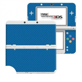 Carbon Blauw New Nintendo 3DS Skin