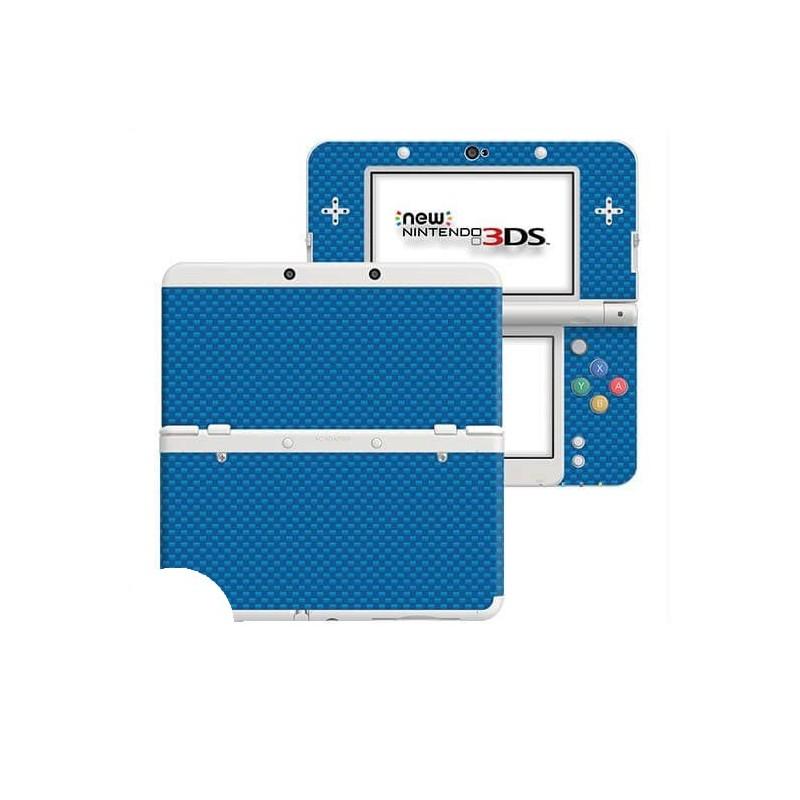 Carbon Blauw New Nintendo 3DS Skin