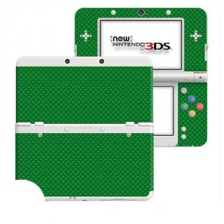 Carbon Groen New Nintendo 3DS Skin