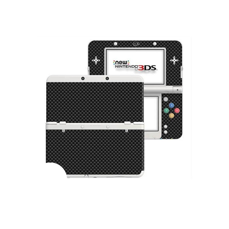 Carbon Zwart New Nintendo 3DS Skin