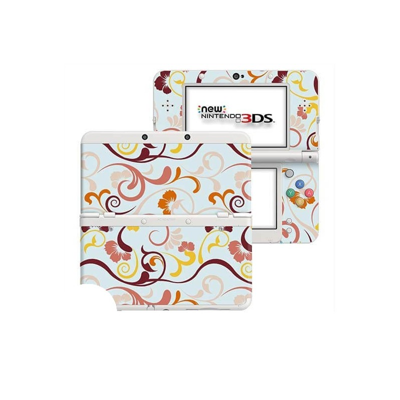 Floral Retro New Nintendo 3DS Skin