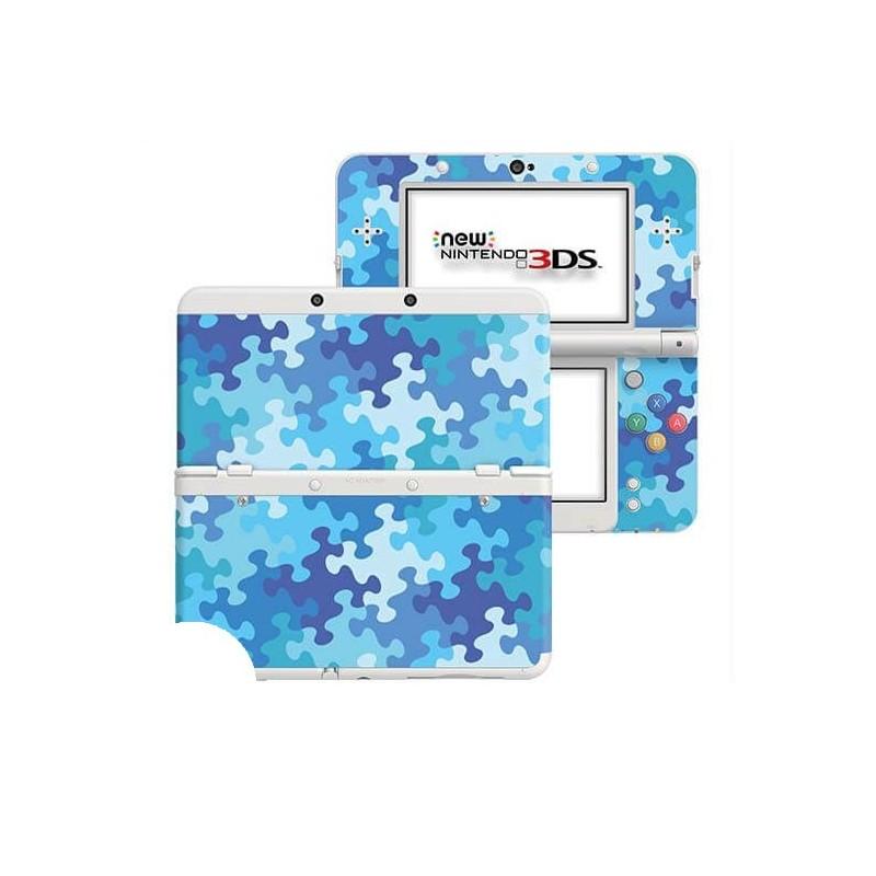 Puzzel Blauw New Nintendo 3DS Skin