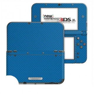 Carbon Blauw New Nintendo 3DS XL Skin