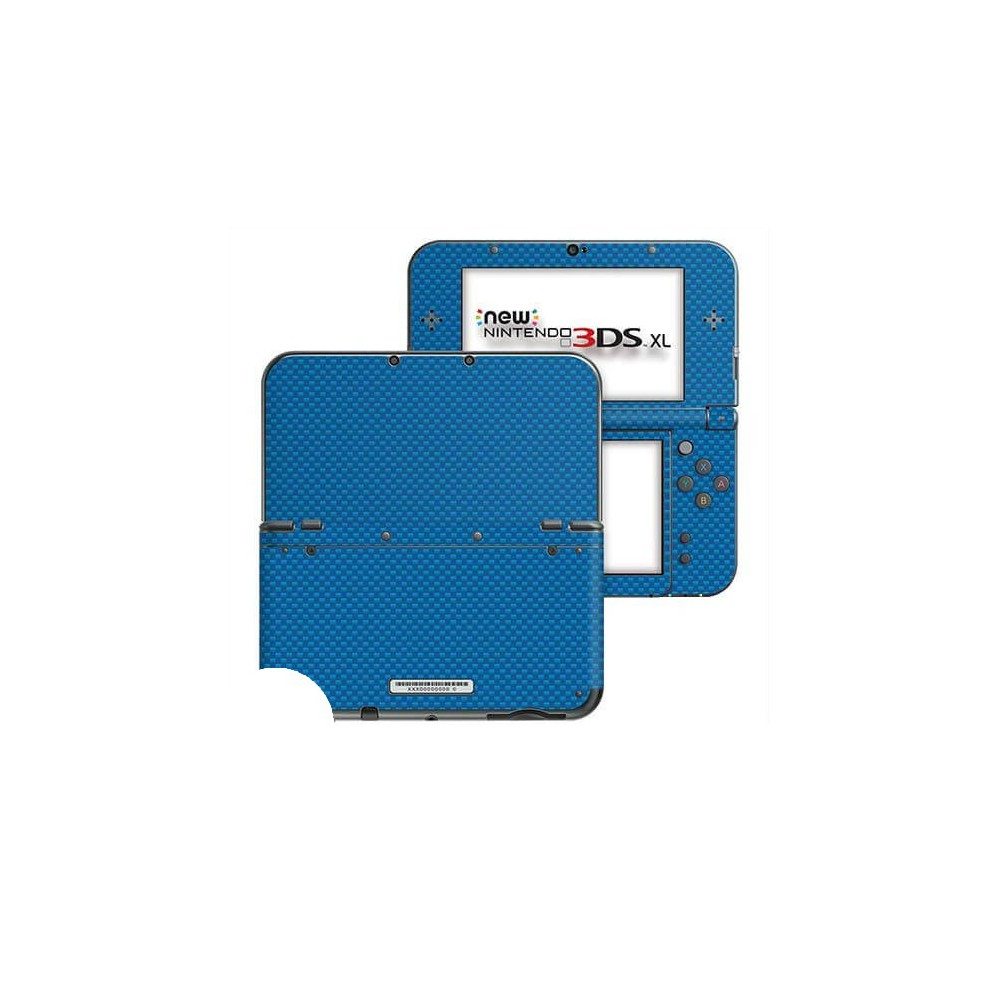 Carbon Blauw New Nintendo 3DS XL Skin