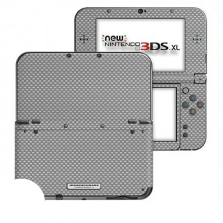 Carbon Grijs New Nintendo 3DS XL Skin