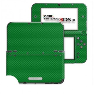 Carbon Groen New Nintendo 3DS XL Skin