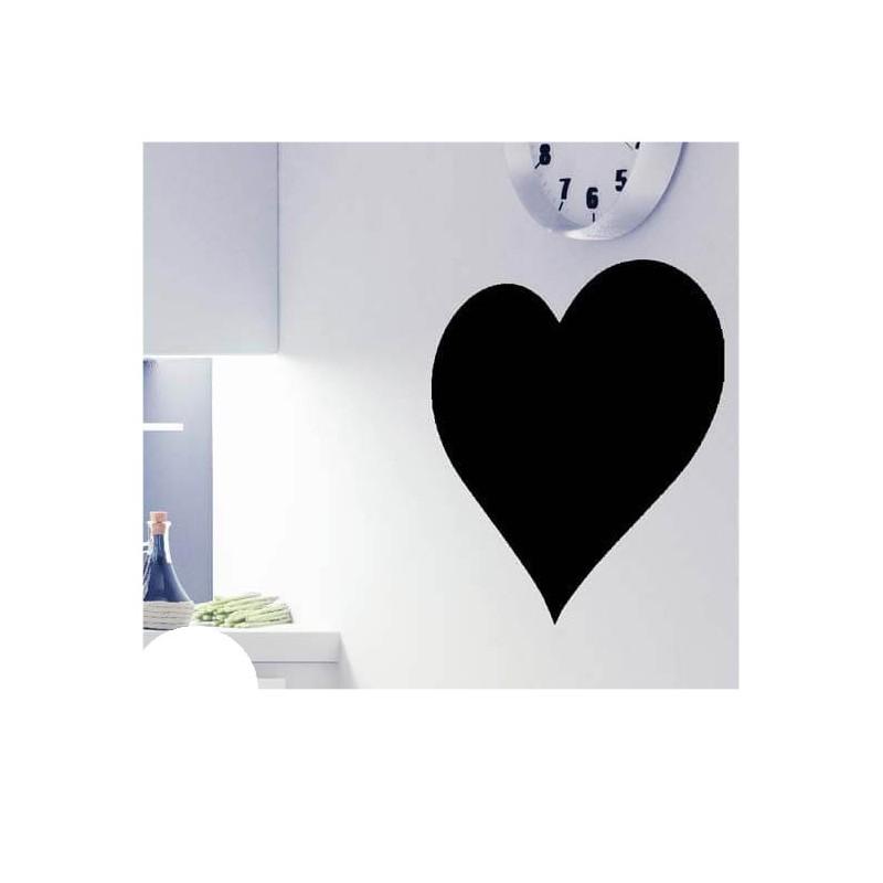 Hart krijtbord sticker basis