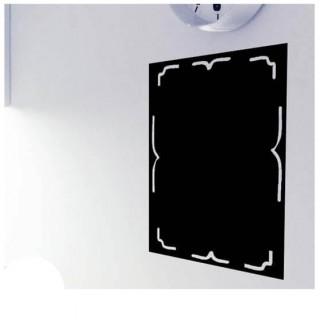 Lijst krijtbord sticker basis