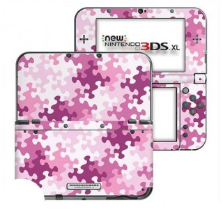 Puzzel Roze New Nintendo 3DS XL Skin