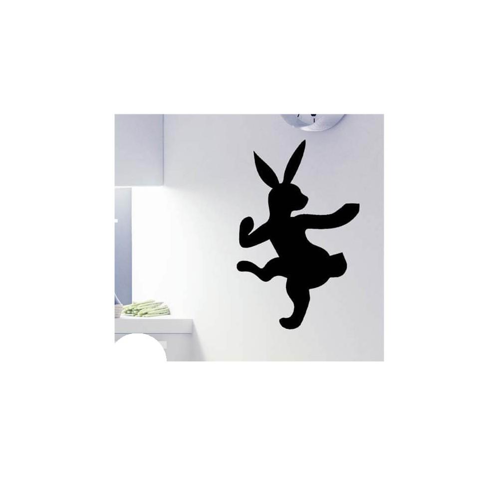 Dansend konijn krijtbord sticker grappig