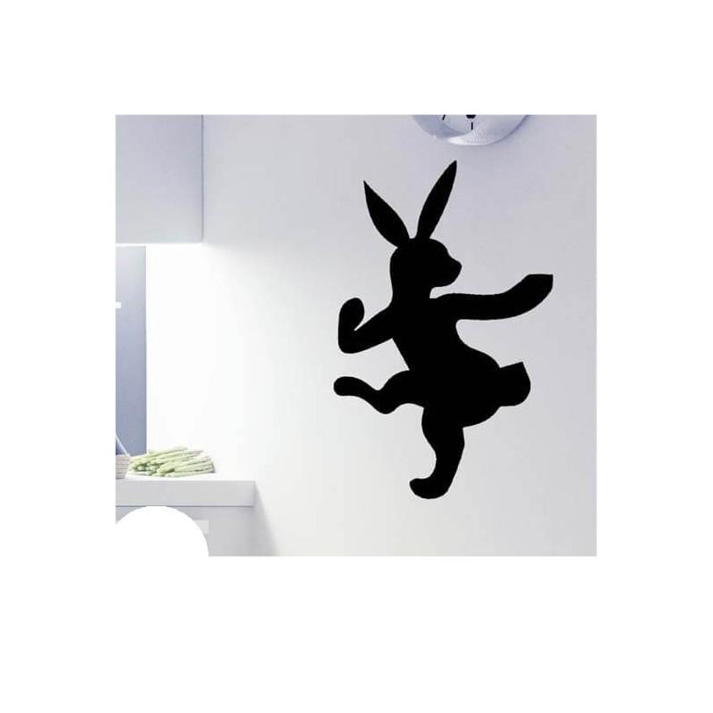 Dansend konijn krijtbord sticker gereedschap