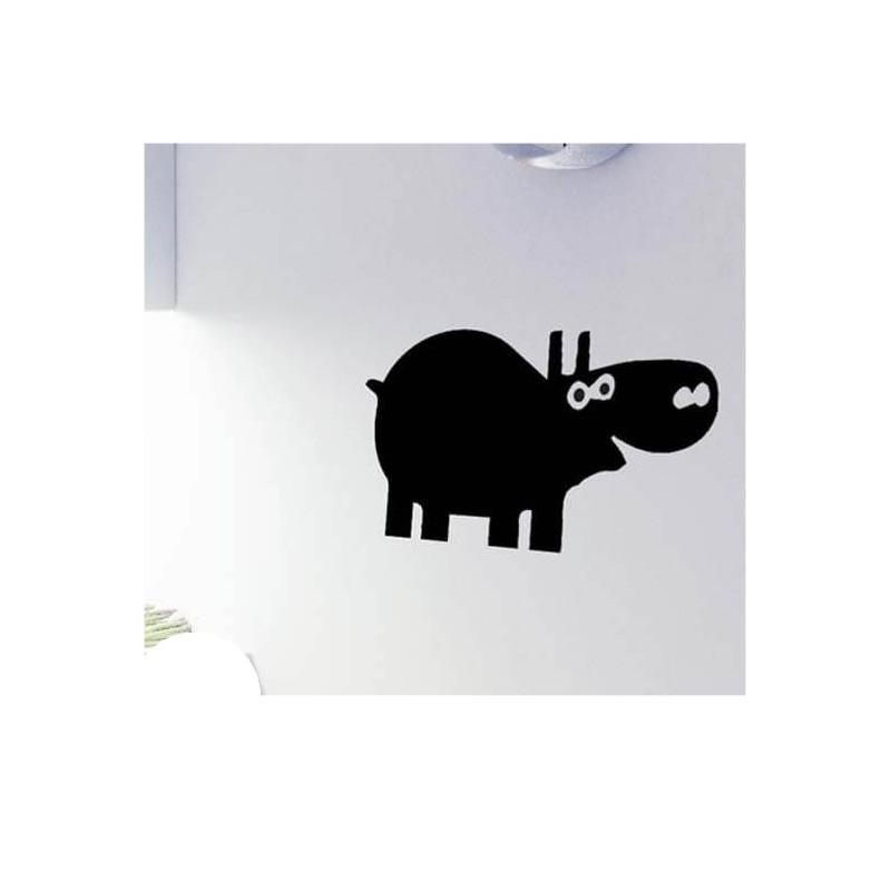 Nijlpaard krijtbord sticker grappig