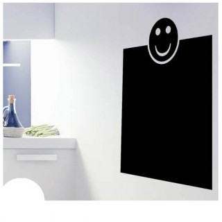 Smiley kader krijtbord sticker grappig