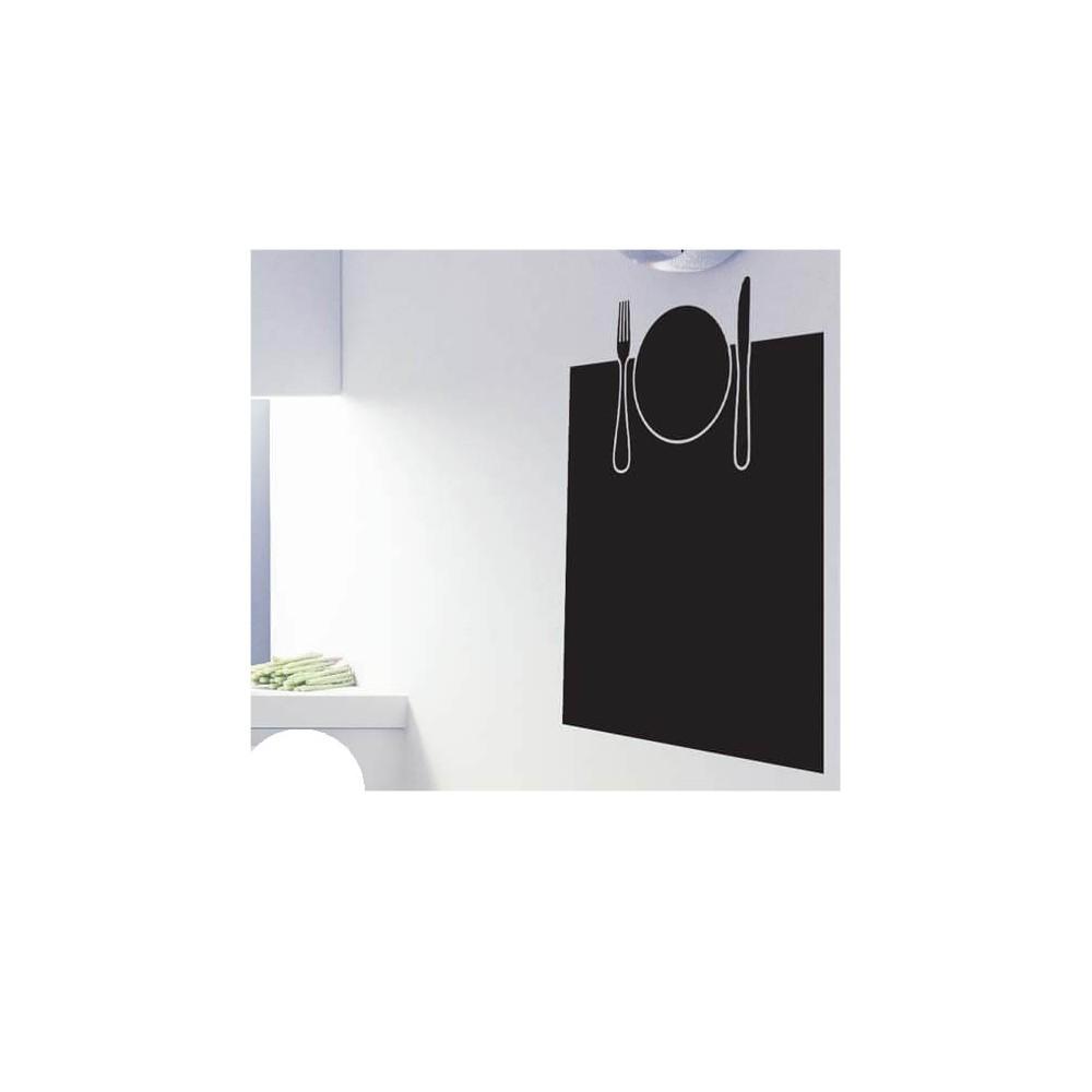Bord met bestek kader krijtbord sticker huishoudelijk