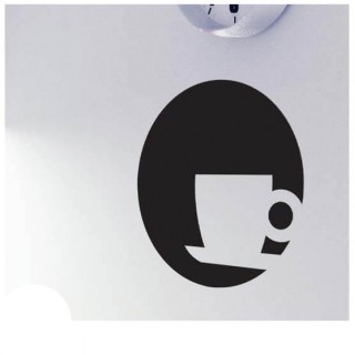 Koffiekopje krijtbord sticker huishoudelijk