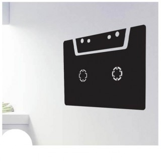 Casettebandje krijtbord sticker muziek
