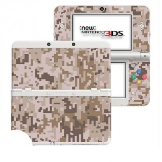 Digital Camo Desert New Nintendo 3DS Skin