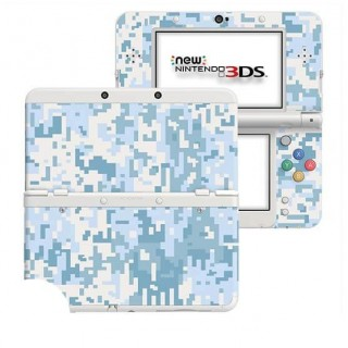 Digital Camo Snow New Nintendo 3DS Skin