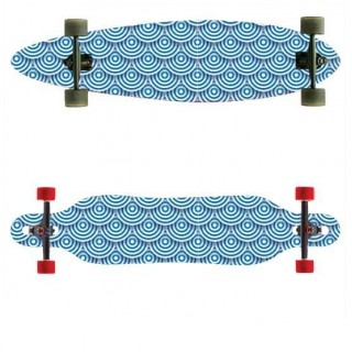 Longboardsticker Blue Circles