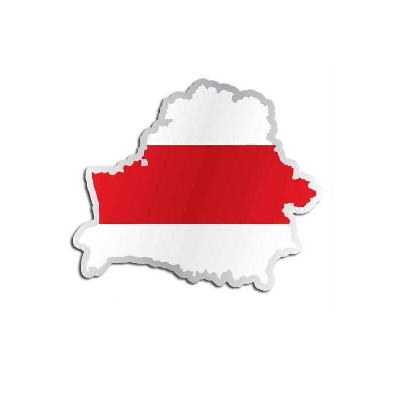 Landensticker Wit Rusland