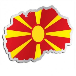 Landensticker Macedonië