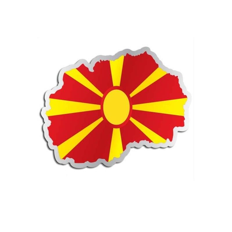 Landensticker Macedonië