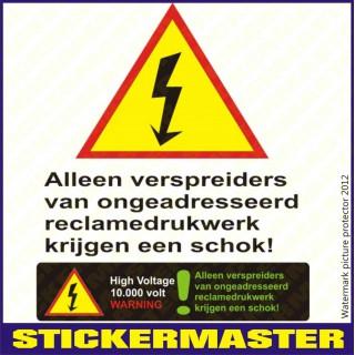 Sticker brievenbus funny