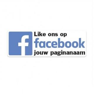 Facebook nieuw sticker eigen bedrijfsnaam 2