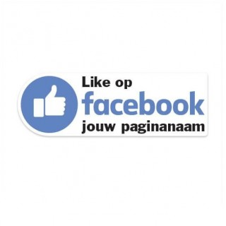 Facebook Like sticker eigen bedrijfsnaam