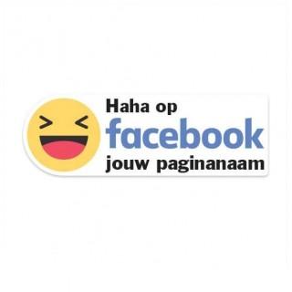Facebook Haha sticker eigen bedrijfsnaam