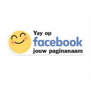 Facebook Yay sticker eigen bedrijfsnaam