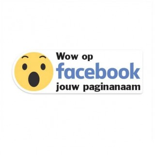 Facebook Wow sticker eigen bedrijfsnaam