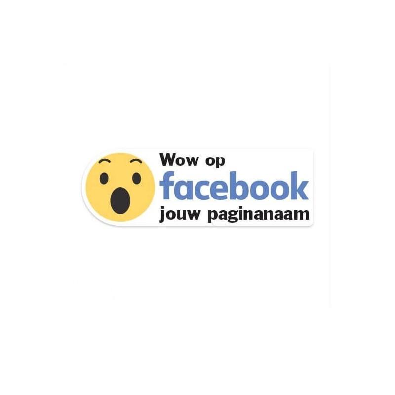 Facebook Wow sticker eigen bedrijfsnaam