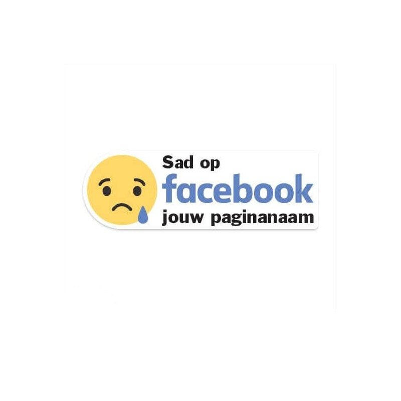 Facebook Sad sticker eigen bedrijfsnaam