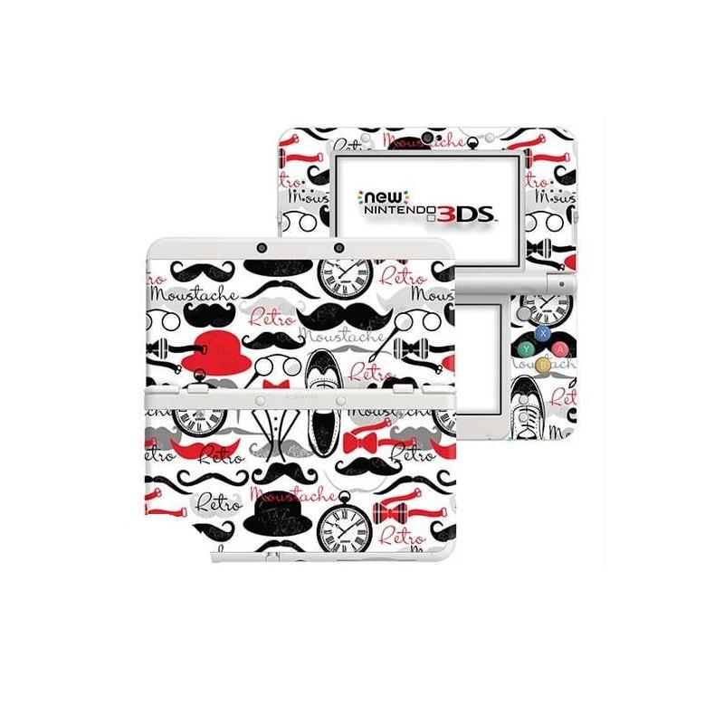 Retro Moustache New Nintendo 3DS Skin