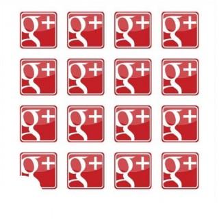 Google+ stickers 2x2 cm 100 stuks