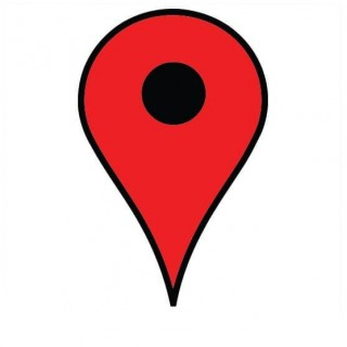 Google maps pin sticker
