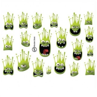 Fietssticker set Monsters Groen