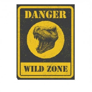 Danger wild zone funny sticker