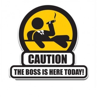 The boss funny sticker