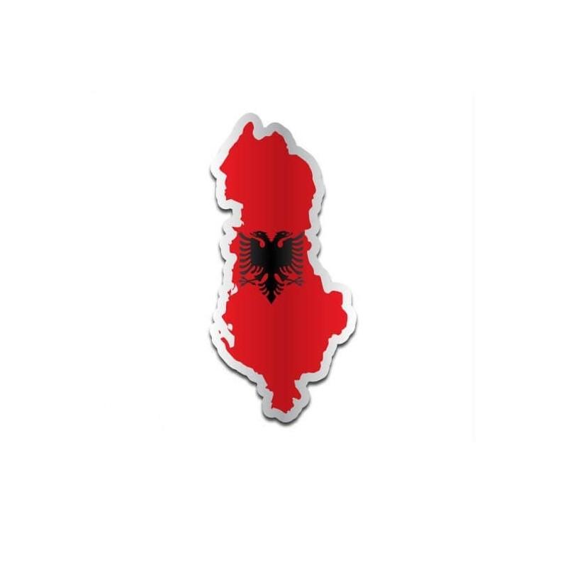Landensticker Albanië