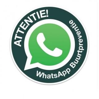 WhatsApp Buurtpreventie bord rond Sticker
