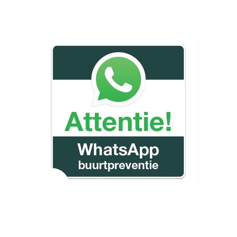 WhatsApp Buurtpreventie bord vierkant Sticker