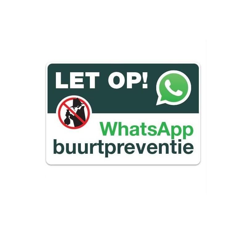 WhatsApp Buurtpreventie bord rechthoek Sticker