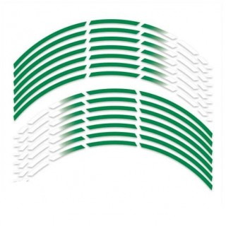 Gradient groen rimstriping motor