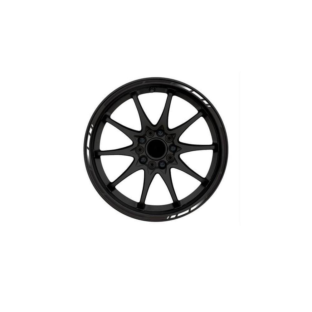 Gradient zwart rimstriping motor
