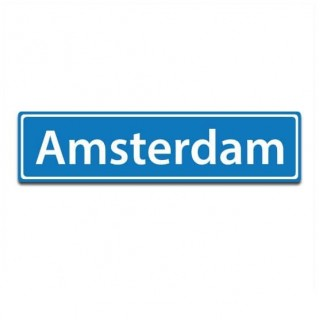 Plaatsnaam sticker Amsterdam
