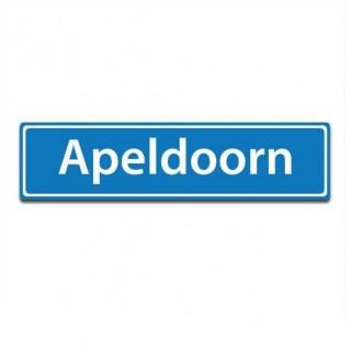 Plaatsnaam sticker Apeldoorn