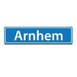 Plaatsnaam sticker Arnhem