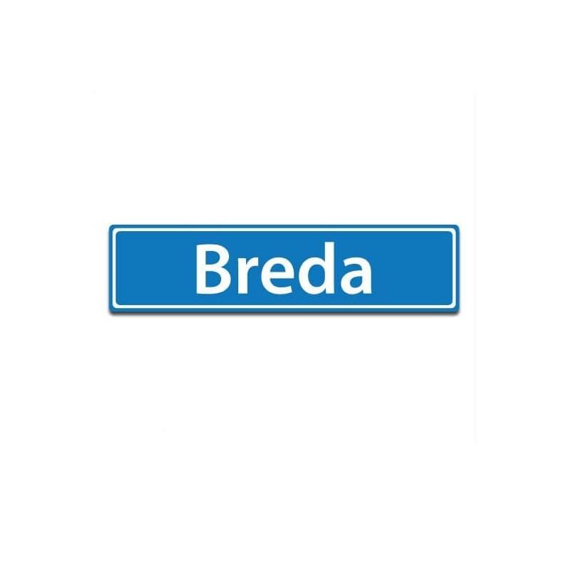 Plaatsnaam sticker Breda